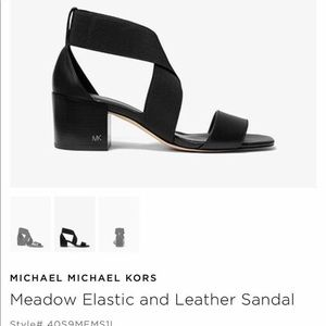 Michael Kors Leather Block Heel Sandal, Size 6.5